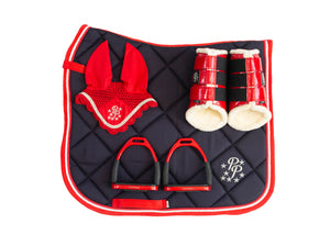 Red and Navy Dressage set