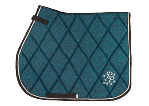 Teal Glitter GP Saddle Pad