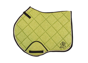 Avocado Green Glitter Jump Saddle Pad