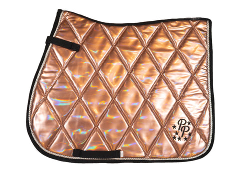 Rose Gold Holographic GP Saddle Pad