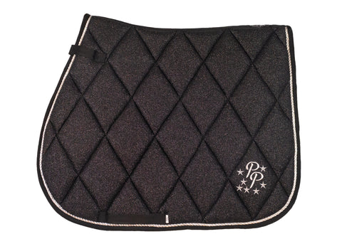 Black Glitter GP Saddle Pad