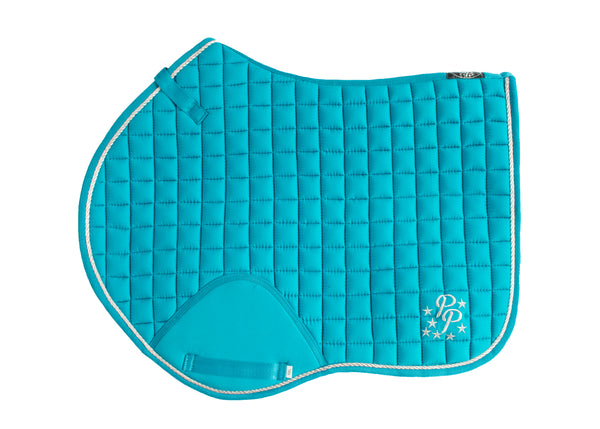 Turquoise Saddle Pads - Jump, GP, and Dressage cuts