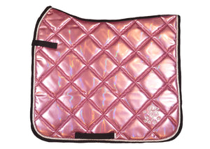Blush Pink Holo Dressage Saddle Pad