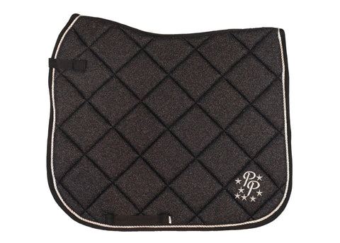 Black Glitter Dressage Saddle Pad