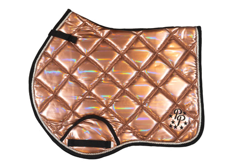 Rose Gold Holographic Jump Saddle Pad