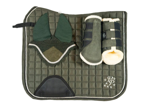 """Martini"" Olive Suede Dressage Set"
