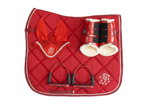 Cherry Red Dressage Set