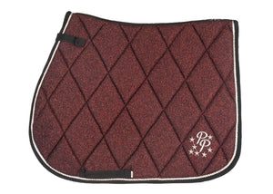 Burgundy Glitter GP Saddle Pad