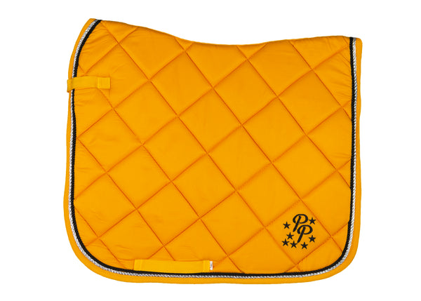 Sunflower/Silver Yellow Saddle Pads - Jump, GP, and Dressage cuts