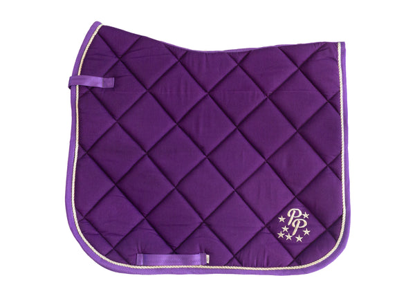 Amethyst Purple Saddle Pads - Jump, GP, and Dressage cuts