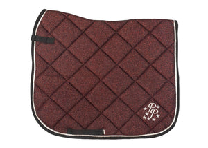 Burgundy Glitter Dressage Saddle Pad