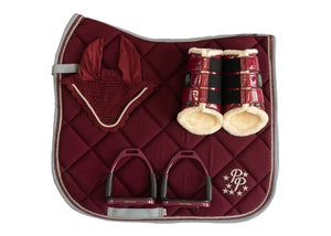 Burgundy/Grey Dressage set