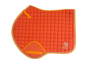 Sunset Orange Saddle Pads - Jump, GP, and Dressage cuts