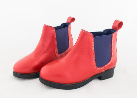 Red Child's Jodhpur Boots SAMPLE
