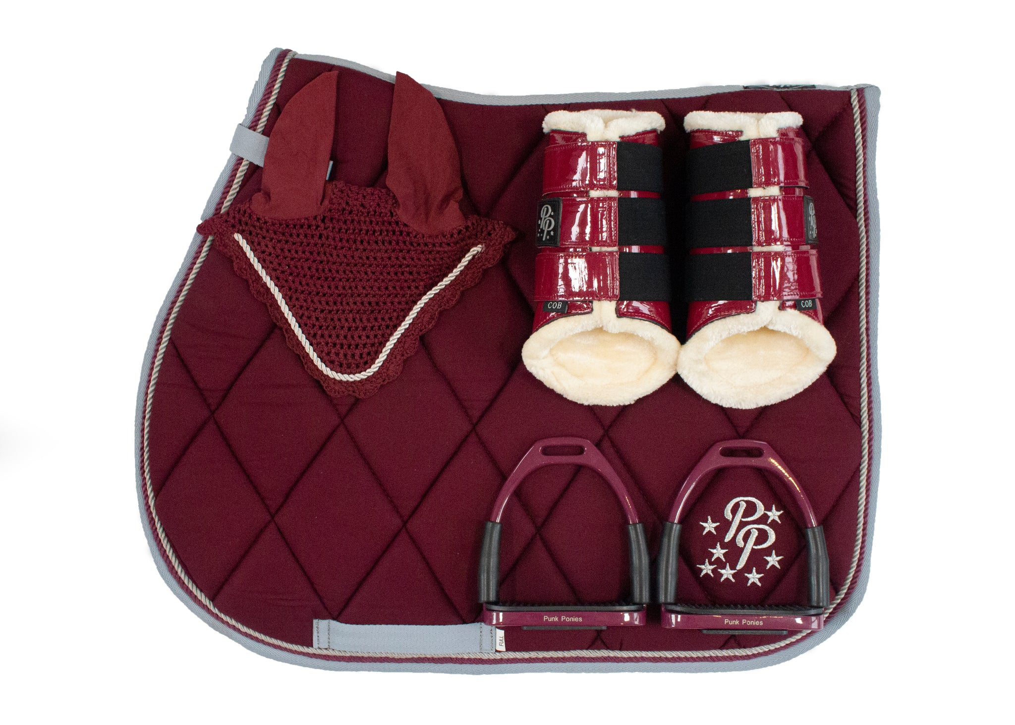 Burgundy/Grey GP Set
