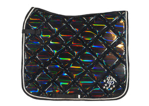 Black Holographic Dressage Saddle Pad