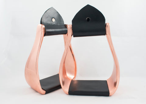 Rose Gold Western Stirrups