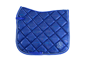 Royal Blue Holographic Dressage Saddle Pad