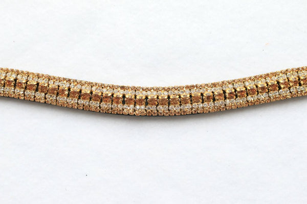 Brown Leather Bling Browbands - 2020 Colours