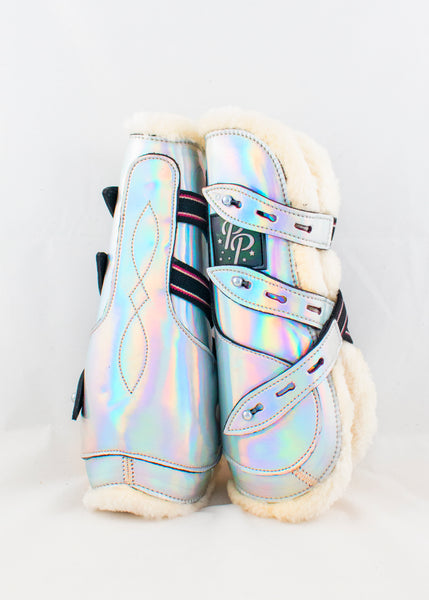 Holo/Glitter Open Front Boots - Fronts Only NEW Sizing