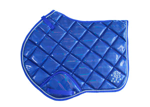 Royal Blue Holographic Jump Saddle Pad