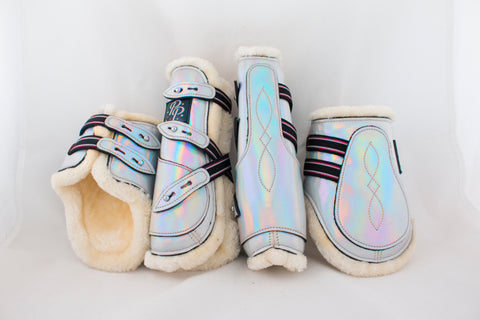 Holo and Glitter Open Front Boots - Set of four - 7 Colours