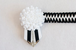 "White and Black 15"" Show Browband"