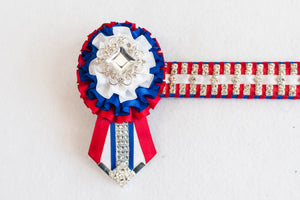 "Red, White, and Blue 14"" Show Browband"