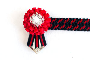 "Red and Navy 14"" Show Browband"