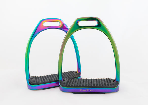 Rainbow Standard, Flexi, and Peacock Stirrups