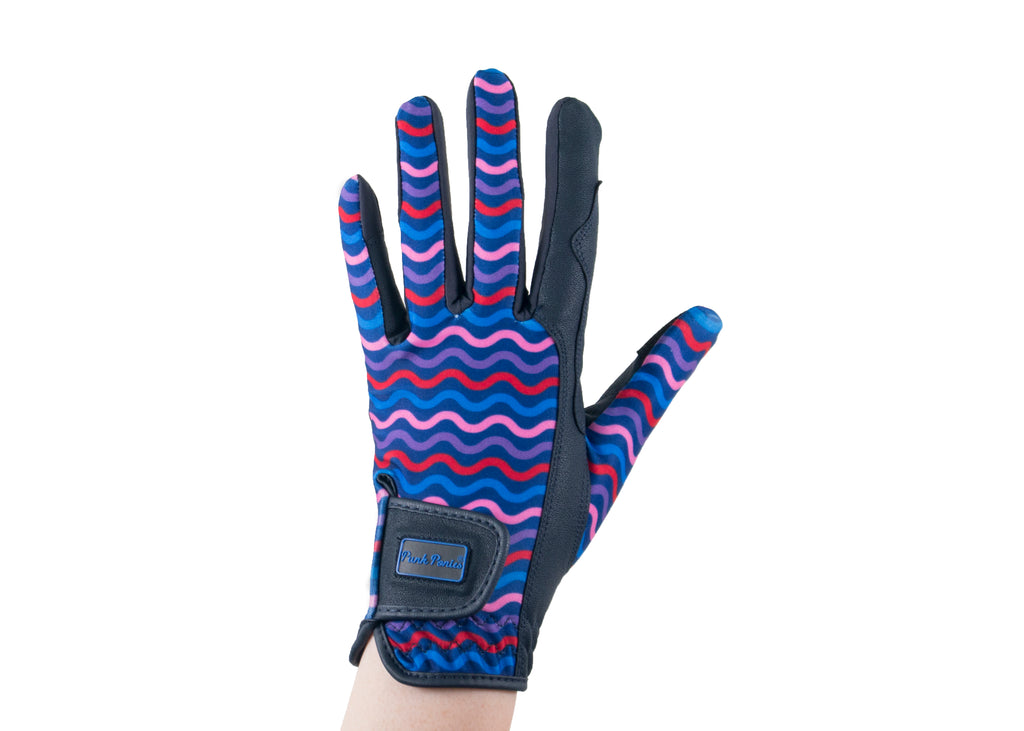 """Wavy"" Touchscreen Friendly Gloves"