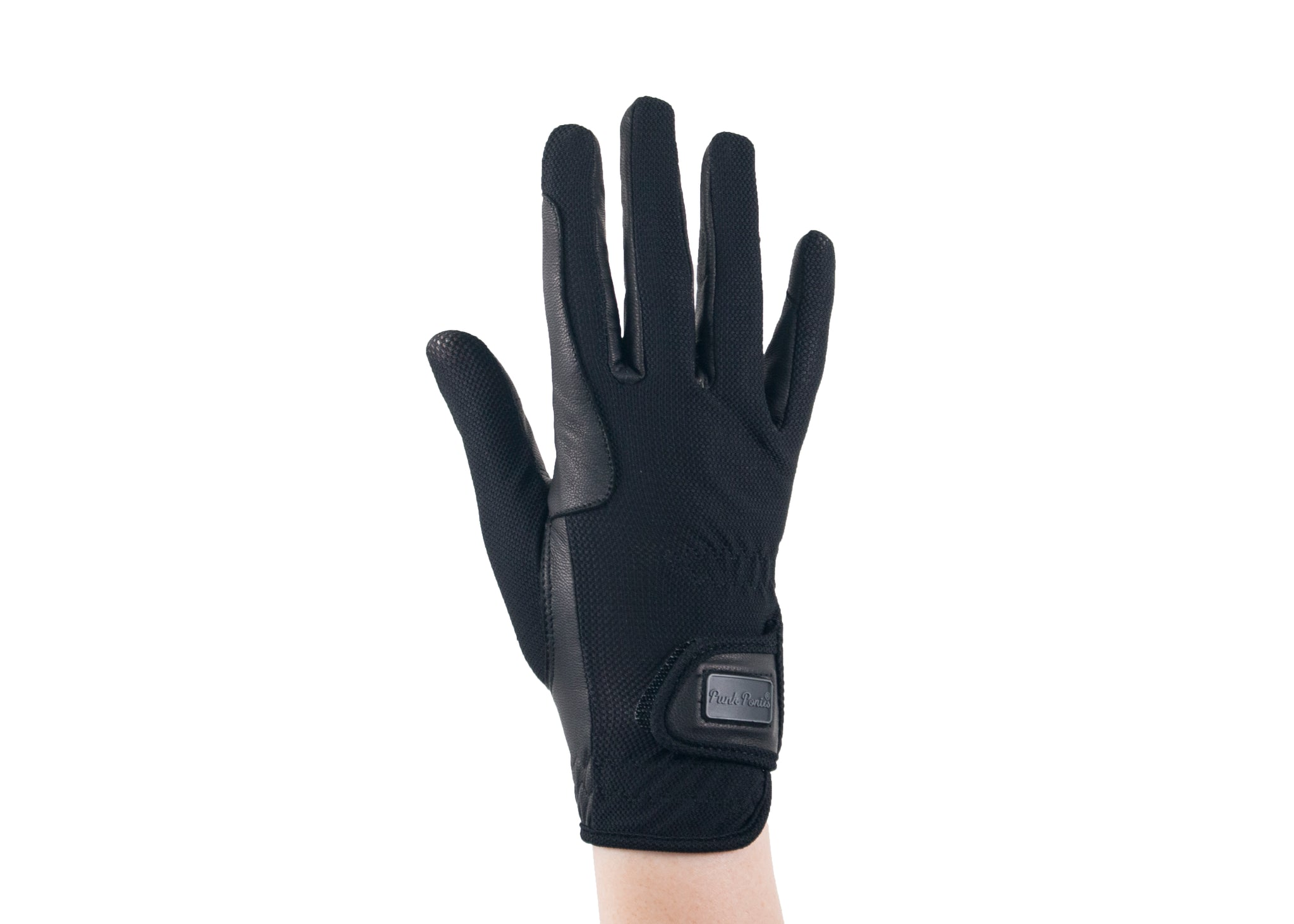 Black Summer Mesh Gloves