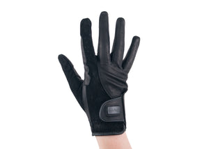 Black Suede and Napa Leather Gloves