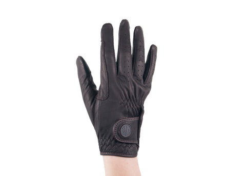 Brown Napa Leather Touchscreen Friendly Gloves
