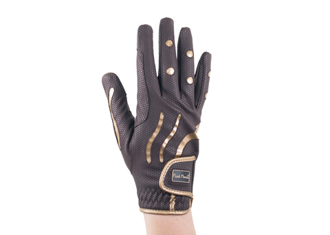 Brown/Gold Hero Touchscreen Friendly Gloves