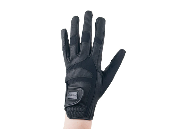 Black Faux Leather Gloves