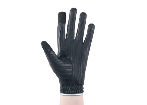 Black/Silver Hero Touchscreen Friendly Gloves