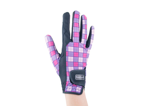 """Purple Tartan"" Touchscreen Friendly Gloves"