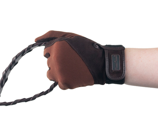 Brown Summer Suede Gloves