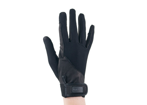 Black Summer Leather Gloves