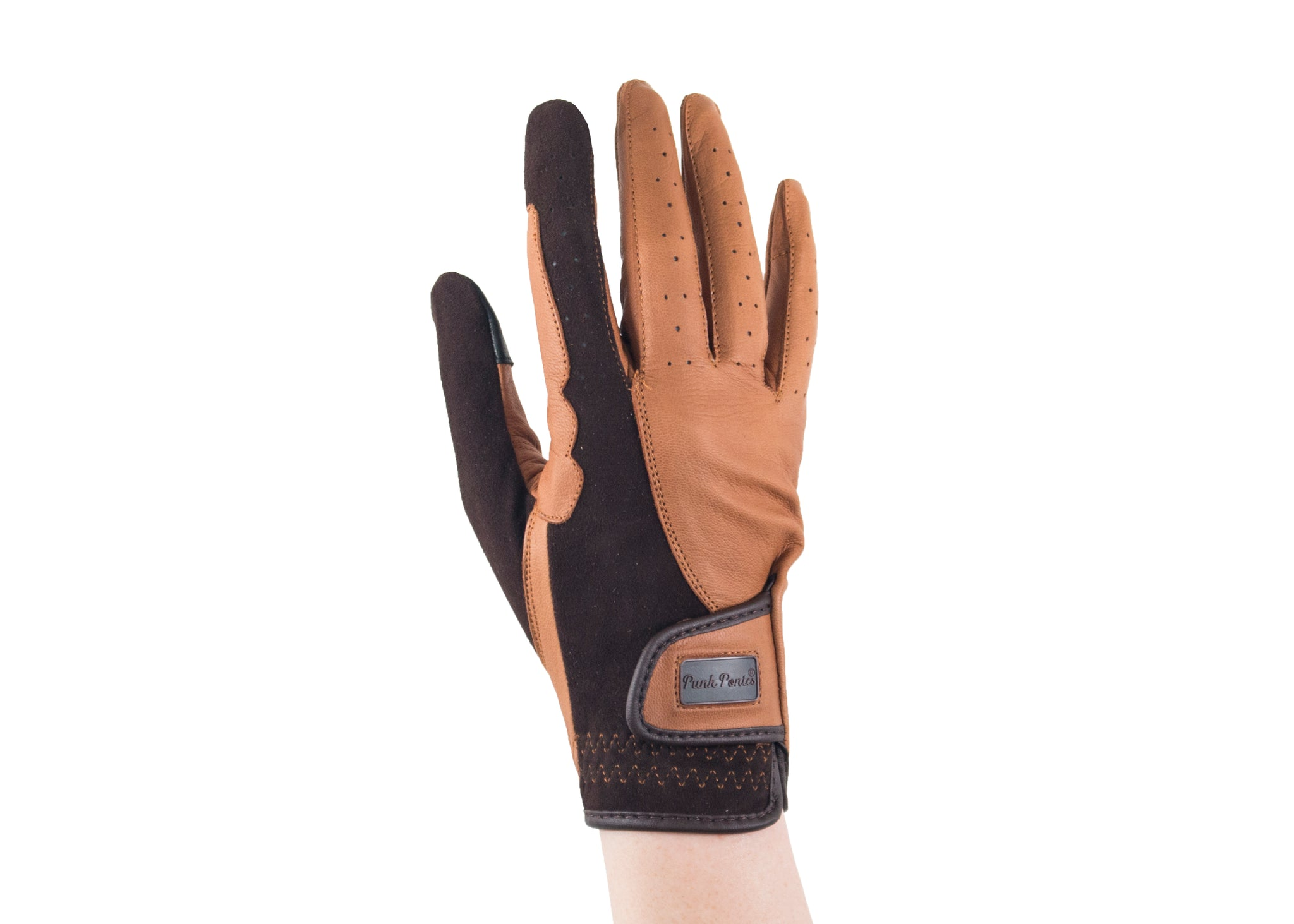 Brown Suede and Napa Leather Gloves