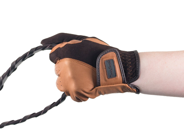 Brown/Tan Suede and Napa Leather Gloves