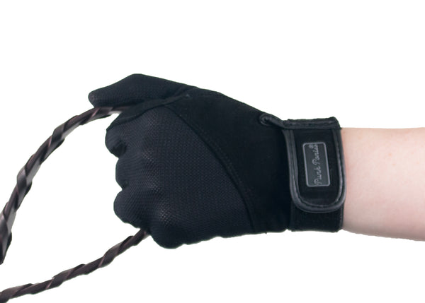 Black Summer Suede Gloves