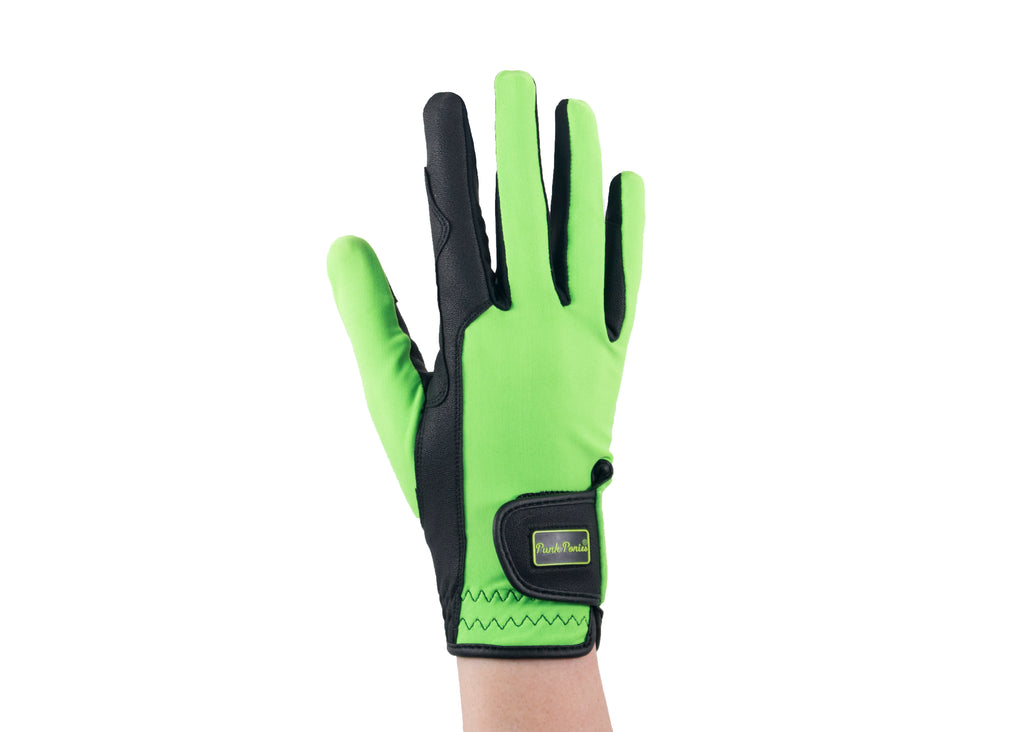 Lime Green Touchscreen Friendly Gloves