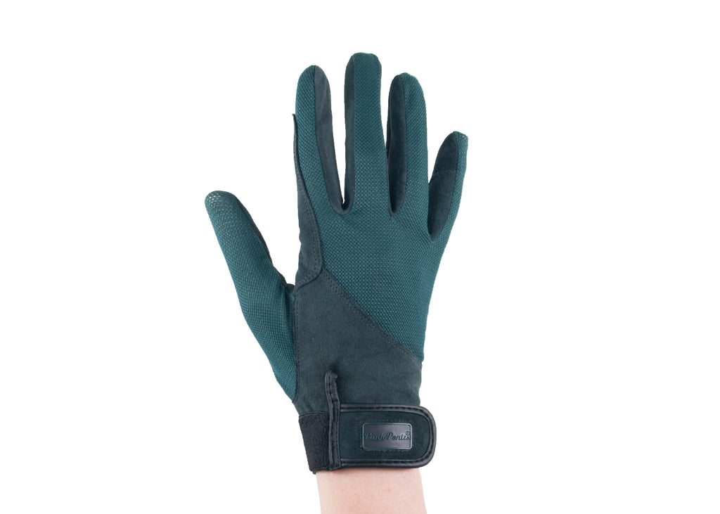 Hunter Green Summer Suede Gloves