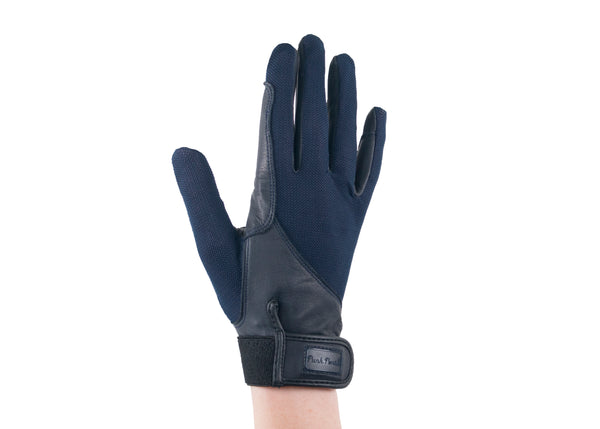 Navy Summer Leather Gloves
