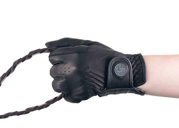 Black Napa Leather Touchscreen Friendly Gloves