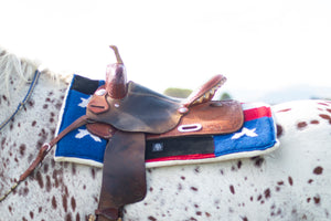 American Flag Western Saddle Pad