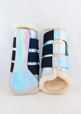 Holo and Glitter Brushing Boots
