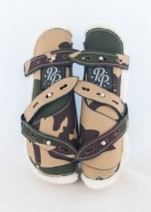 Camo Open Front Boots - Fronts Only